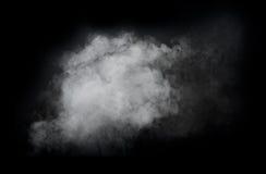 Bielu dym odizolowywający na czarnym tle zdjęcie royalty free