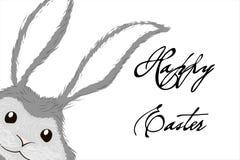 Bielu Easter popielaty królik królika karcianego projekta Easter wielka powitania ilustracja ilustracji