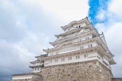 Bielu Himeji Grodowy kasztel w jasny bluesky Obrazy Royalty Free