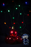 Bielu i błękita małpa symbolu nowy rok Zdjęcia Stock