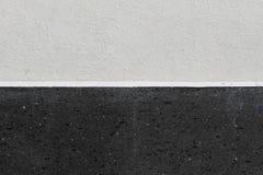 Bielu i czerni ścienna tekstura Obraz Stock