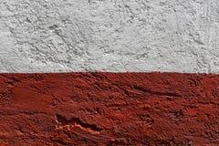 Bielu i czerwieni ścienna tekstura Fotografia Stock