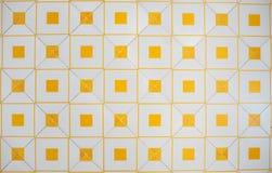 Bielu i pomarańcze płytki wzór dla tła obraz royalty free