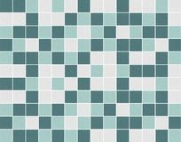 Bielu i zieleni mozaiki kwadratowe ceramiczne płytki fotografia stock