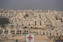 Bielu kamienia domy Palestyna Zdjęcia Stock