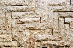 Bielu kamienia płytki tekstury ściana z cegieł tła Obraz Royalty Free