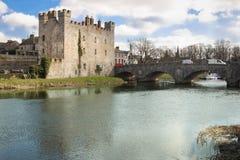 Bielu kasztel Athy Kildare Irlandia obraz royalty free