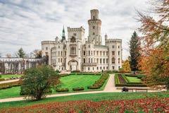 Bielu kasztel przy jesienią fotografia royalty free