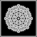 Bielu koronkowy doily Zdjęcie Royalty Free