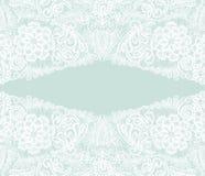 Bielu koronkowy Kwiecisty tło, ornamentacyjni kwiaty Element dla nas Zdjęcia Royalty Free