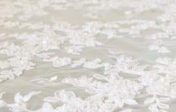 Bielu koronkowy tło Fotografia Royalty Free