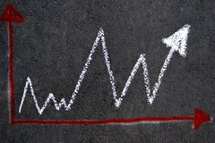 Bielu kredowy wykres na asfalcie zdjęcie stock