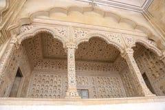 Bielu marmurowy pałac, Agra fort, India Fotografia Stock