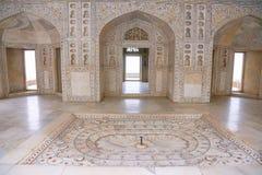 Bielu marmurowy pałac, Agra fort, India Zdjęcia Stock