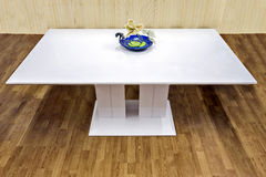 Bielu stół Zdjęcie Stock