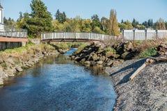 Bielu strumień I most Zdjęcie Stock