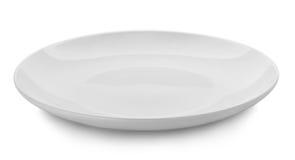 Bielu talerz na białym tle Obrazy Stock