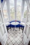 Bielu taras hotelowy Noucentista Sitges Hiszpania zdjęcie royalty free