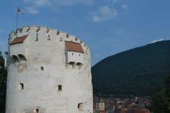 Bielu wierza, Brasov, Transylvania, Rumunia zdjęcie stock