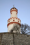 Bielu wierza w Złym Homburg (Schlossturm) Niemcy Zdjęcie Royalty Free
