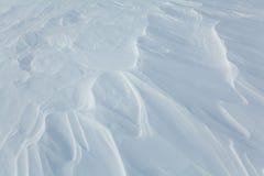 Bielu wzór śnieg w polu Fotografia Royalty Free