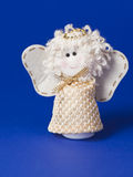 Bielu zabawkarski anioł Fotografia Stock