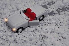 Bielu zabawkarski samochód dla dzieci Zdjęcia Stock