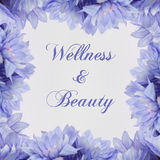 Bien-être et beauté - thème avec les fleurs bleues Photo libre de droits