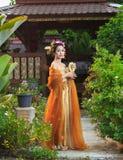bien costume dien женщина Вьетнама северного региона тайская традиционная Стоковое Изображение