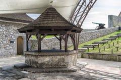 Bien de l'amour dans le château de Trencin, la Slovaquie Photographie stock