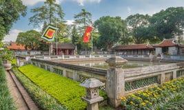 Bien de la clarté merveilleuse (Thien Quang Tinh) au temple de la littérature à Hanoï, Vietnam Images libres de droits