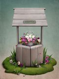 Bien, flores y huevos de Pascua Fotos de archivo libres de regalías