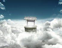 Bien sur des nuages Photo libre de droits