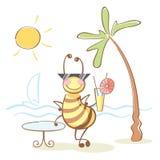 Biene auf dem Rest lizenzfreie abbildung