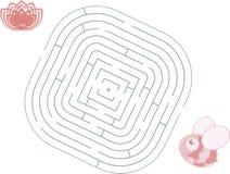 Biene des Labyrinths Stockbild