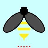 Biene ist es Ikone Stockfoto