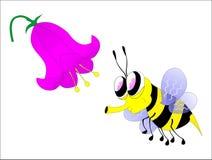 Biene mit Blume lizenzfreie abbildung