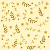 Biene mit Blumen Lizenzfreies Stockfoto