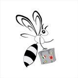 Biene mit einem Koffer vektor abbildung