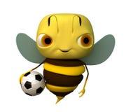 Biene mit einer Kugel Lizenzfreies Stockfoto