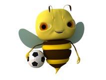 Biene mit einer Kugel Stockfotografie