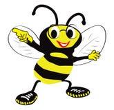 Biene mit Gläsern Lizenzfreies Stockfoto