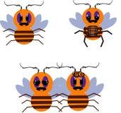Biene mit Honig lizenzfreie abbildung