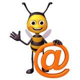 Biene mit an Kennzeichen Lizenzfreie Stockbilder