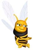 Biene mit Zeichen Stockfotografie