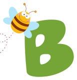 Biene mit Zeichen b Lizenzfreie Stockfotografie