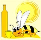 Biene und Rechtschreibungbuch Stockbild