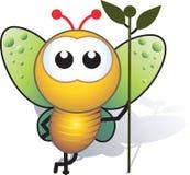 Biene und Stamm Stockbild