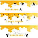 Bienenüberschriften Lizenzfreie Stockfotografie