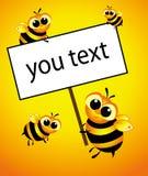 Bienen Stockfoto